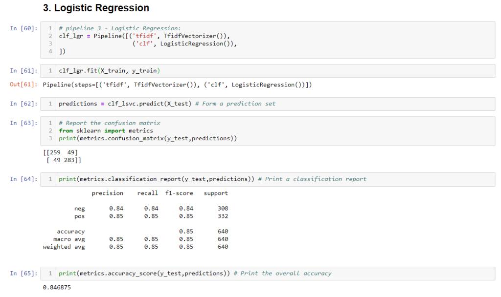 Logistic Regression Text Classifier