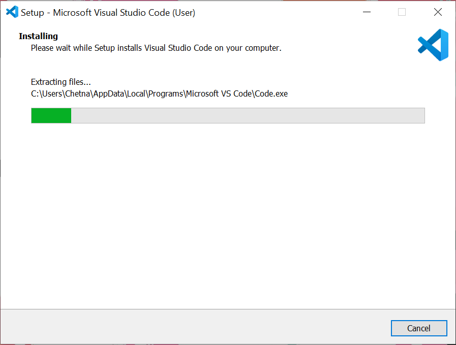 visual studio installation wizard